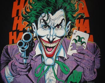 Vintage Joker 1989 DC Comics Batman T Shirt 1980s tshirt