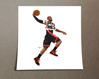 Lebron James Poster Design King James Printed on 185 gsm semi gloss poster paper with 0.19 inch/0.5 cm white border to assist in framing