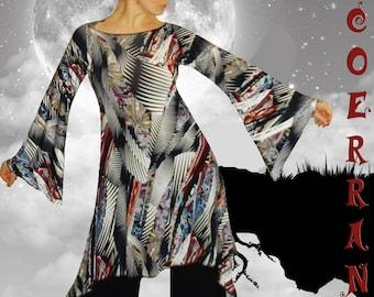 Asymmetric tunic, Bohemian tunic, long tunic ethnic tunic ' My way...  '