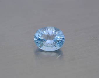 Natural sky blue topaz oval millenium concave loose gemstone 10x8 mm, faceted topaz loose gem oval cut BT40, BT41, BT42, BT44