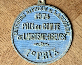 Vintage French Horse Show Prize Plaque