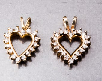 Heart Pendants - Valentines Day Gift - Mother and Daughter Pendants - Buy one get one free!