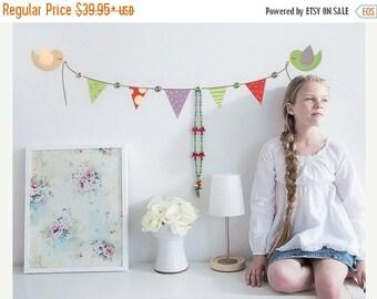 20% OFF Summer Sale Garlands wall decal hanger, sticker, mural, vinyl wall art