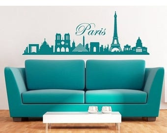 20% OFF Summer Sale Paris Skyline wall decal, sticker, mural, vinyl wall art