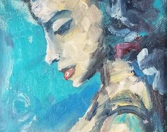 D.A.B. #19 4x6 nude oil study