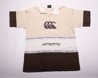 Vintage Canterbury New Zealand Polo Print Shirt