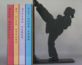 Karate Girl - Martial Arts Bookend