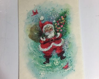 Vintage Santa Claus Christmas Card from the coronation collection 1950's