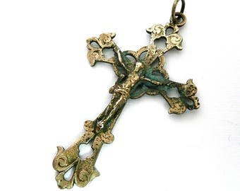 Vintage French Rustic Crucifix