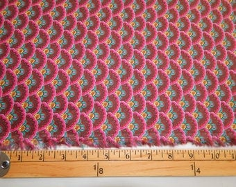 Scalloped, Floral Print Corduroy Fabric, By The Yard