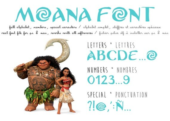Knitting Fonts For Mac : Moana font real ttf file available on all softwares pc
