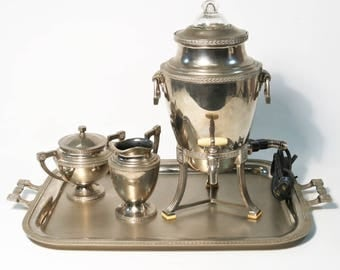 Landers Frary & Clark Universal Silver Plated Nickel Coffee Service Percolator