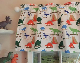 Dinosaurs Valance ~ 64 Inches Wide