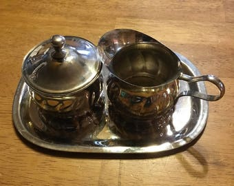 Silver Sugar and Creamer with its own tray . . .