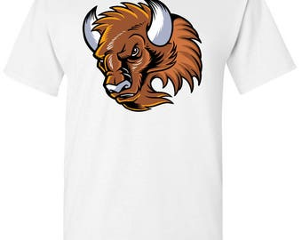 Buffalo Cartoon Men's White T shirt