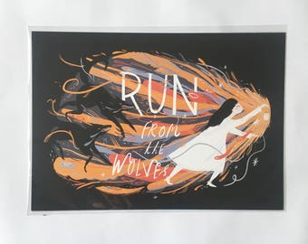 Run From the Wolves A4 Print