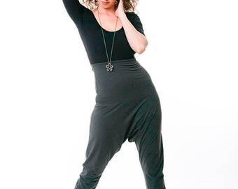 FLASH SALE Low Crotch Pants, Maternity Pants, Boho Chic Clothing, Yoga Pants, Womens Pants, High Waist, Fold Over Pant