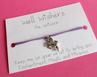 Unicorn Charm Bracelet - Enchantment,Magic and Miracles | Travel, friendship, best friend, bridesmaid, wish bracelet, party, princess,