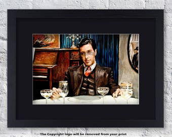 The Godfather - Michael Corleone - Mounted & Framed Art Print