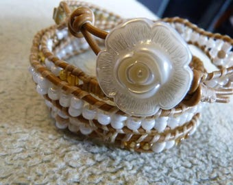 4x leather wrap bracelet