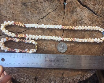 Amazing Vintage niihau shell seashell lei/necklace and bracelet set
