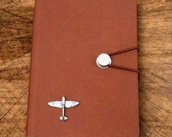 Spitfire A6 Notebook Pocket Size Notepad Ideal RAF Pilot Gift