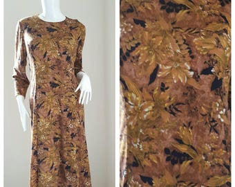Vintage emanuel ungaro Floral Print Dress// ungaro Cotton Dress Size L