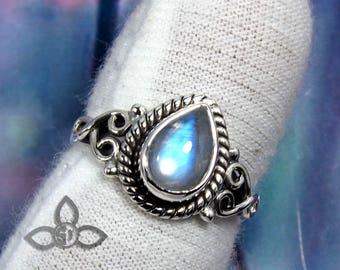 Rainbow Moonstone Ring, Rainbow Ring, Moonstone Ring, 925 Sterling Silver, Handmade Ring, Designer Ring, Birthday Gift, Gift For Her, Gift