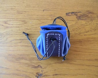Royal Blue and purple two-tone leather purse