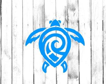 Sea Turtle - Tribal/Tattoo Design - Home/Laptop/Computer/Phone/Car Bumper Sticker Decal