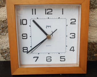 Vintage French Japy  Wall Clock