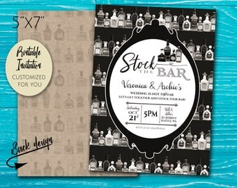Couple's Wedding Shower | Stock the Bar Party Invitation