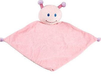 "13"" Ladybug Lovey | New Baby Gift Idea | Animal Blanket | Personalized Birthday | Stocking Stuffer | Security Blanket"
