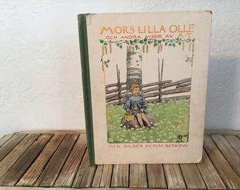 Vintage Book Titled Mors Lilla Olle Elsa Beskow