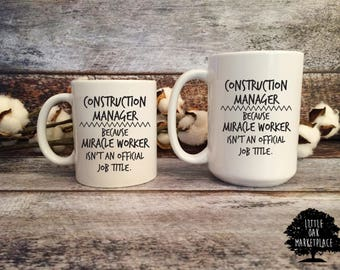 Miracle Worker isn't an Official Job Title Mug, Promotion gift, Boss Gift, Gift for your Boss, New Job Gift, Customized