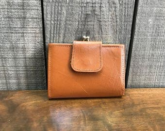 1960's Buffalo Leather Wallet with Coin Purse