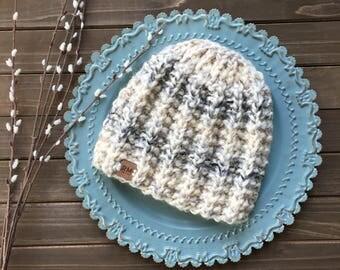 HANDMADE Ready to ship   Winter beanie, Knit hat, knit beanie, neautral beanie, wool beanie, unisex winter hat