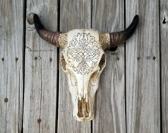 Bull Skull Wall Decor cow skull | etsy