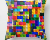 Lego Pillow Cover-Kids Room Decor-Geometric Pillow Cover-Building Blocks Pillow-Lego-Lego Brick Pillow Cover-Lego Blocks-Lego Pillow