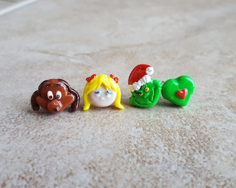 Grinch and Friends Inspired Earrings---Grinch Inspired Necklace