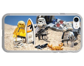 """Surfing iPhone Case - iPhone 7 Case, Phone Cover for iPhone 7, 7 Plus, 6, 6s, 6 Plus, 6s Plus, 5, 5s and SE iPhones - """"Trooper Surfer Dude"""""""
