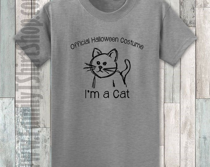 Official Halloween Costume I'm A Cat T-shirt