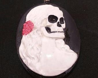 Rose Calavera skull pendant