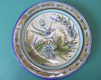 "8"" handpainted ceramic plate made in Mexico: Ken Edwards"