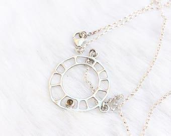 Sun necklace- Gemstone necklace- Citrine necklace- Summer necklace- Boho necklace- Sun jewellery- Ethical jewellery- Gift- Unusual necklace