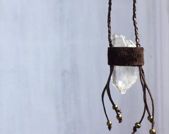Raw clear Quartz necklace