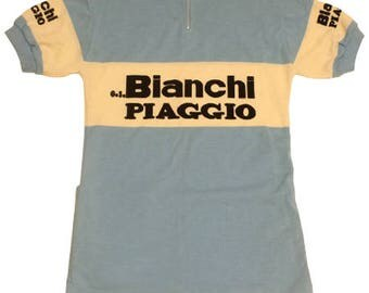 70's vintage Deadstock Bianchi Piaggio cycling jersey made in Belgium