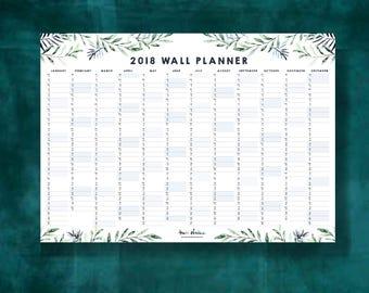 Wall Planner 2018 - Calendar