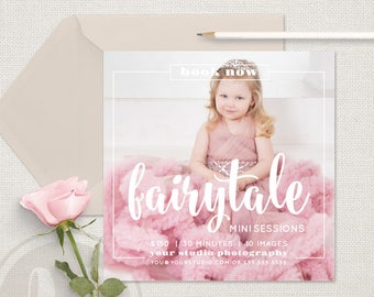 Fairytale Mini Session Template - Fairytale Marketing Board, Fairytale Marketing, Instagram Marketing, Photoshop Template for Photographers