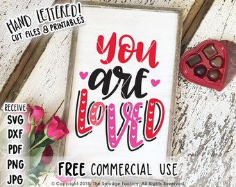 Love SVG Cut File, You Are Loved SVG, I Love Us Printable, Silhouette Cameo, Cricut, Valentine's Day Decor, You Are Loved Printable File